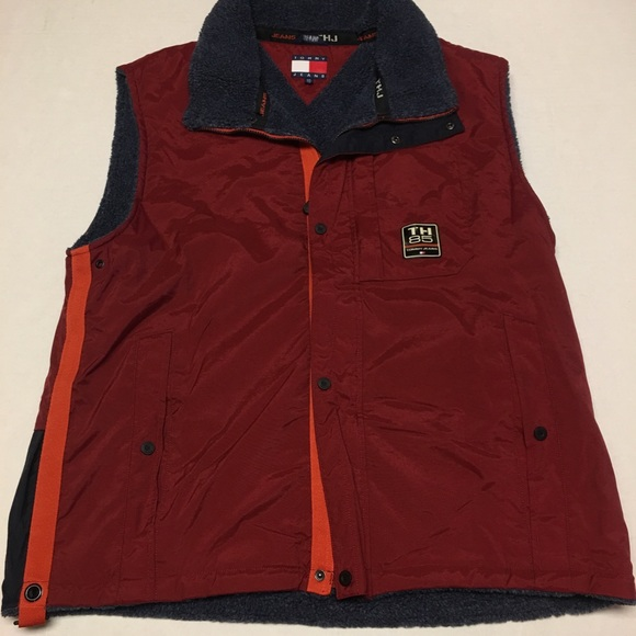 f83c976eb070f Vintage tommy hilfiger jeans flag logo vest jacket.  M 5bbc33903c98444a7ec1332b